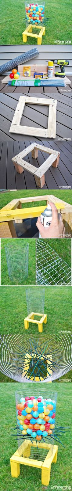 DIY BACKYARD KER-PLUNK GAME [ | Garden
