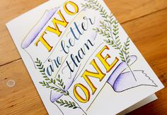 two better than one card  wedding card by Daughter Zion Designs