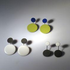 Dots Earrings. Hot and cold enamel  ECNP Galeri (Ela Cindoruk & Nazan Pak)