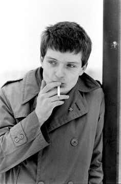 "post-punker-2: "" Ian Curtis of Joy Division, Hulme, Manchester, 6 January 1979, by Kevin Cummins """