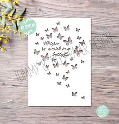 40% off all Commercial Templates!! COMMERCIAL USE Whisper a Wish to a Butterfly Design - Papercutting Template to print and cut yourself