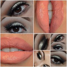 Smokey with Coral lips... Love the color and the makeup