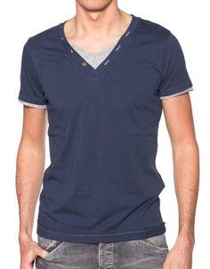 T-shirt ENERGIE Jervi Bleu
