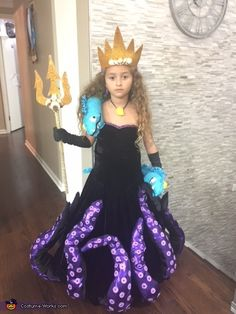 Sylvia: This year I purchased a dress and black gloves from Goodwill and created an Ursula the Sea Witch costume for my daughter Sage. I sewed the dress to make it...