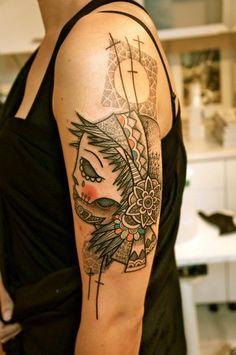 A Dia de la Muerte tattoo from Noon