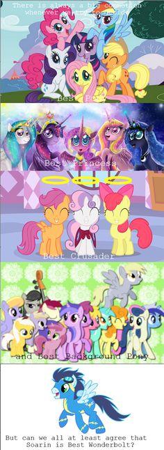 Rainbow Dash  is best pony Luna is best princess sccotaloo is best crusader Octaviais best background pony