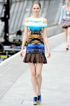 Mary Kartrantzou 2012. Her mirror prints are just lovely!