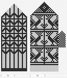 Mustrilaegas: A Kudumine / Knitting Knitting Charts, Knitting Stitches, Knitting Patterns Free, Hand Knitting, Knitted Mittens Pattern, Knitted Gloves, Wrist Warmers, Hand Warmers, Mittens