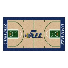 Utah Jazz Basketball Court Runner Rug