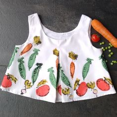 Vegetable hand printed top