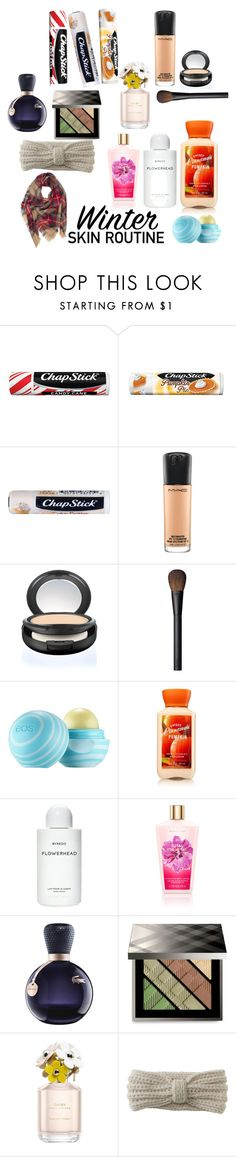 """#burrrbeauty"" by autumnnoel13 ❤ liked on Polyvore featuring beauty, Chapstick, MAC Cosmetics, NARS Cosmetics, Eos, Byredo, Lacoste, Burberry, Marc Jacobs and Aéropostale"