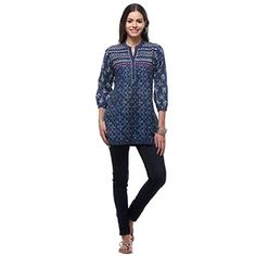 Women's Cotton 'Midnight Jewel' Blouse (India) | Overstock.com Shopping - The Best Deals on Women's Clothing