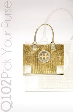 Tory Burch - Ella Metallic Straw Mini Tote. Go to wkrq.com to find out how to play Q102's Pick Your Purse!