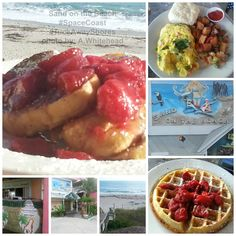 Sand on the Beach .. breakfast , lunch and dinner + bar we thought the breakfast was A++ and amazing view of the ocean.