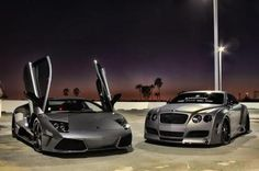 Lamborghini & Bentley - an awesome pair that would look great in my driveway.