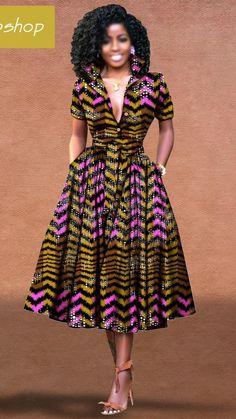 Modern African Print Dresses, African Dresses For Women, African Print Dress Designs, Latest African Fashion Dresses, African Attire, African Print Clothing, African Clothes, African Women, African Traditional Wear