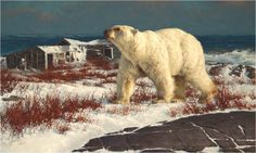Polar bear painting by Greg Beecham