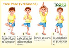 Tree Pose for yoga Vrksasana