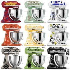 Which decal should I get for my Kitchen Aid Mixer - THAT is the question! SO MANY CHOICES!!