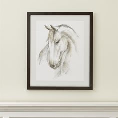 Shop Watercolor Horse Painting.  With a background in traditional painting and medical illustration, Ethan Harper infuses this watercolor image of a horse with keen realism.