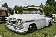 White truck chevy apache