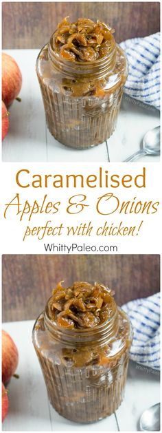 Slow Cooker Caramelised Apple Onion Recipe - paleo recipe perfect for burgers and chicken breasts! Find more recipes on whittypaleo.com