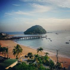 """Taboga Isla, Taboga, Panama — by Jean Him. This is the view from the best hotel in Taboga Island """"Vereda Tropical"""""""