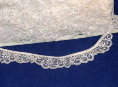 Ivory Ruffle Lace Trim - 1 3/8 inch Wide - Polyester Lace - BTY - Destash. $1.00, via Etsy.