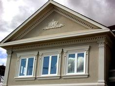 Exteriors - pediment flower and window enhancements by Artemis Studio