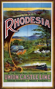inch Photo Puzzle with 252 pieces. (other products available) - Union Castle Line to Rhodesia poster, 1908 Date: 1908 - Image supplied by Mary Evans Prints Online - Jigsaw Puzzle made in the USA Fine Art Prints, Canvas Prints, Framed Prints, Railway Posters, All Nature, Vintage Travel Posters, Africa Travel, Poster Size Prints, Photo Puzzle