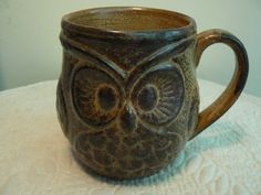 Vintage Owl Coffee Cup