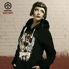 Hard Corps 'Born to Fight' unisex hoodie - hand printed. JOIN THE FIGHT!
