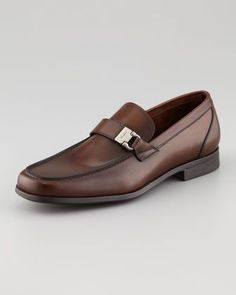 Best Foot Forward: Men's Shoes: Tazio Side Ornament Loafer Brown by Salvatore Ferragamo Mens Fashion Shoes, Men S Shoes, Men's Fashion, Salvatore Ferragamo, Monk Strap Shoes, Fresh Shoes, Prada Shoes, Sneaker Boots, Slip On Shoes