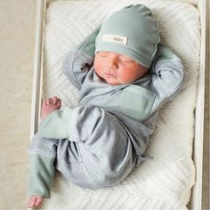 NEW: Organic Cotton Baby Jogger Pants & Matching LS Tees! Now available in 4 colors: spearmintLOVE.com