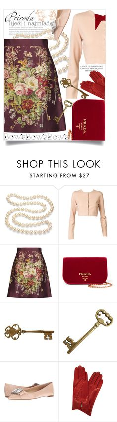 """""""bows"""" by paperdollsq ❤ liked on Polyvore featuring Magdalena, DaVonna, Alaïa, Dolce&Gabbana, Prada, MICHAEL Michael Kors, Dents, Cash Ca and bows"""