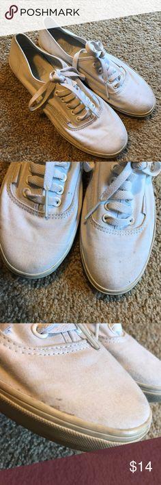 White Vans one marks but still pretty white!! make an offer :) Vans Shoes