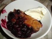 BLUEBERRY COBBLER: Everyone's favorite dessert  #blueberry #cobbler