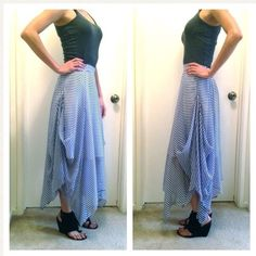 Navy Striped Maxi Skirt Gorgeous, flowy maxi skirt by Alessandro Miele. Made in Italy. Alessandro Miele Skirts Maxi