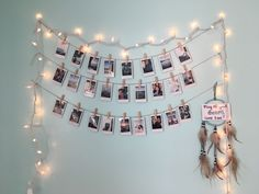 Polaroid decorating!! Lights went up for Christmas, but probably keeping all year round