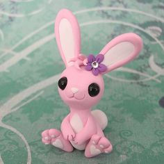 Pink Bunny by DragonsAndBeasties.deviantart.com on @deviantART