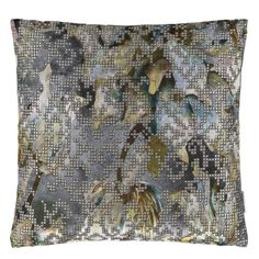 Bardiglio Zinc Pillow design by Designers Guild Orange Cushion Covers, Orange Cushions, Velvet Cushions, Scatter Cushions, Throw Pillows, Designers Guild, Sanderson Fabric, Burke Decor, Cushion Fabric
