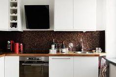 Znalezione obrazy dla zapytania biała kuchnia z czarnym okapem