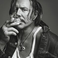 Mickey Rourke photographed by Inez Van Lamsweerde and Vinoodh Matadin. S)