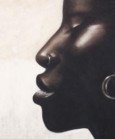 Black Girl Art, Black Women Art, Black Art, Black Girl Magic, African Girl, African American Art, African American Natural Hairstyles, Girls With Nose Rings, Black And White City