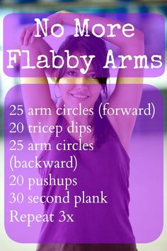 No more flabby arms workouts