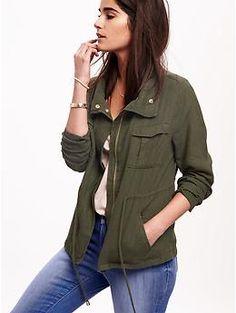 Linen-Blend Field Jacket for Women | Old Navy