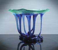 Blu Green Dancing Vase