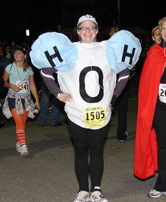 Water costume. Awesome and educational, too. Don't forget to hydrate before and after running! boorunrun.org Teacher Halloween Costumes, Halloween Science, Hallowen Costume, Halloween Party, Costume Ideas, Running Costumes, Girl Costumes, Tap Costumes, Science Costumes