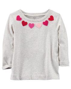 Toddler Girl Heart Sweatshirt   Carters.com #babygirlsweatshirts