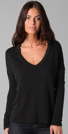 JAMES PERSE  Boxy V Neck PULLOVER SWEATSHIRT TOP size 1